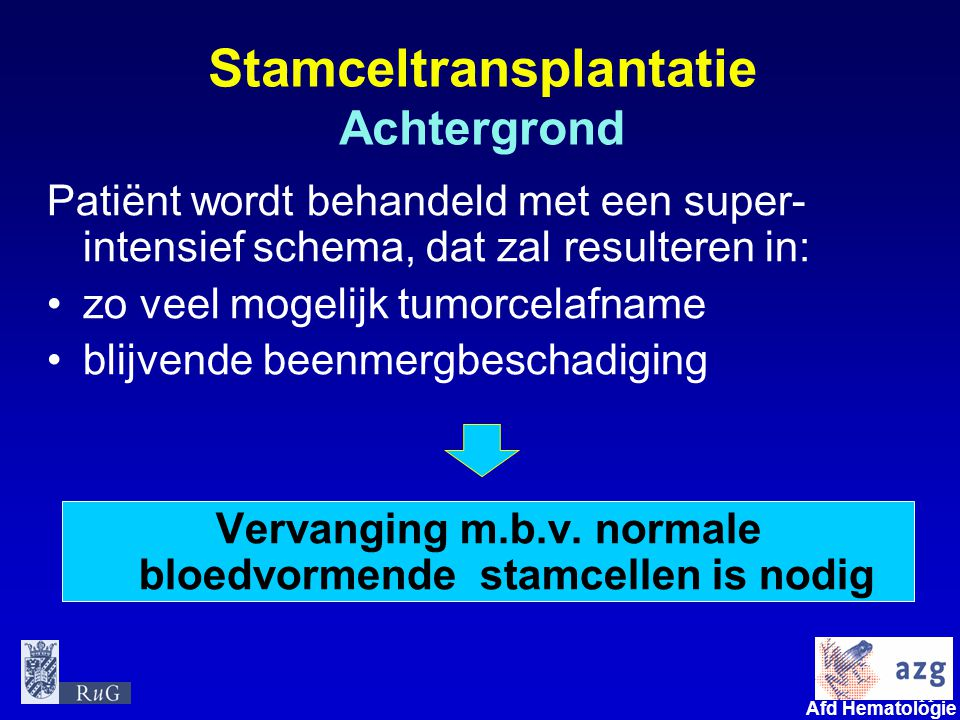 Stamceltransplantatie Achtergrond