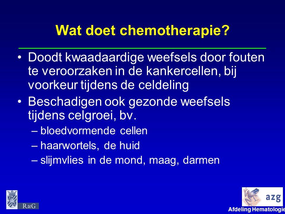 Wat doet chemotherapie