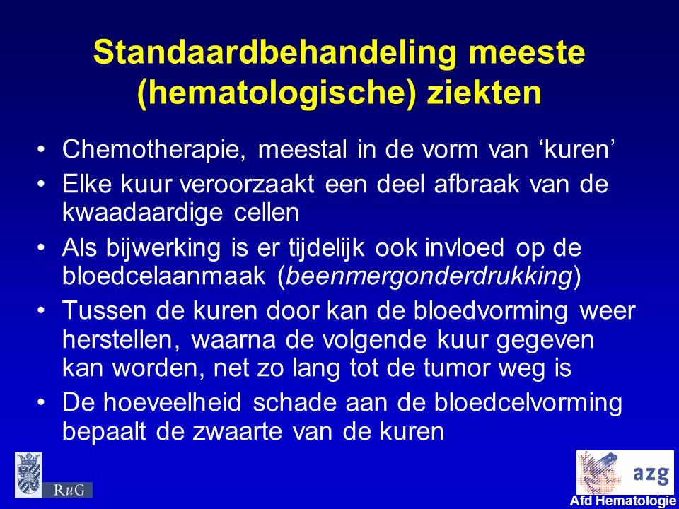 Standaardbehandeling meeste (hematologische) ziekten