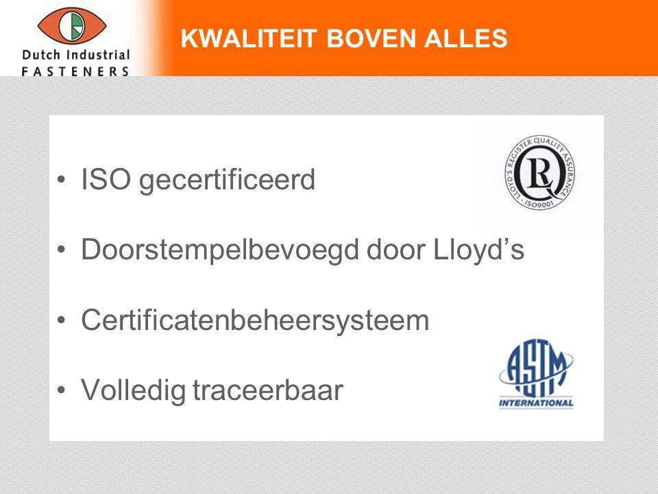 Doorstempelbevoegd door Lloyd's Certificatenbeheersysteem