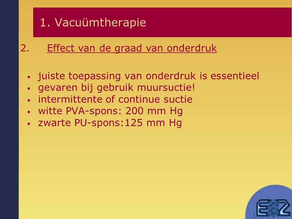 1. Vacuümtherapie Effect van de graad van onderdruk