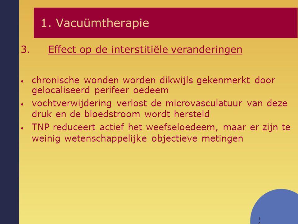 1. Vacuümtherapie Effect op de interstitiële veranderingen