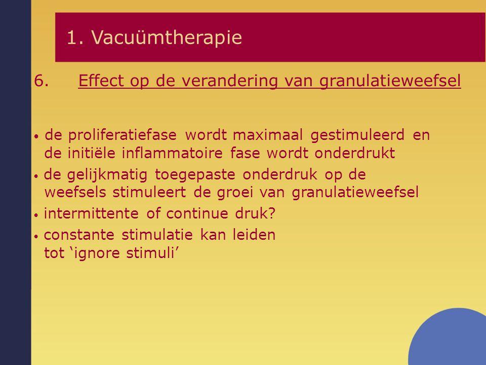 1. Vacuümtherapie Effect op de verandering van granulatieweefsel