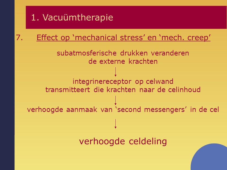 1. Vacuümtherapie verhoogde celdeling