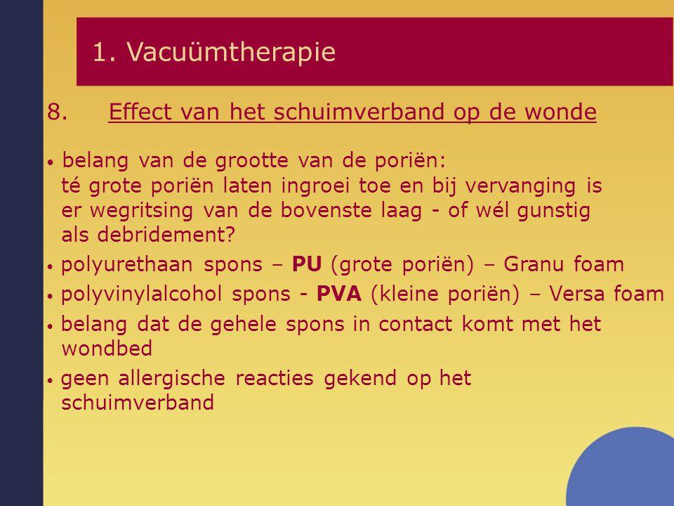 1. Vacuümtherapie Effect van het schuimverband op de wonde