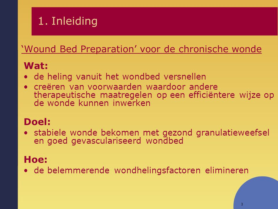 'Wound Bed Preparation' voor de chronische wonde