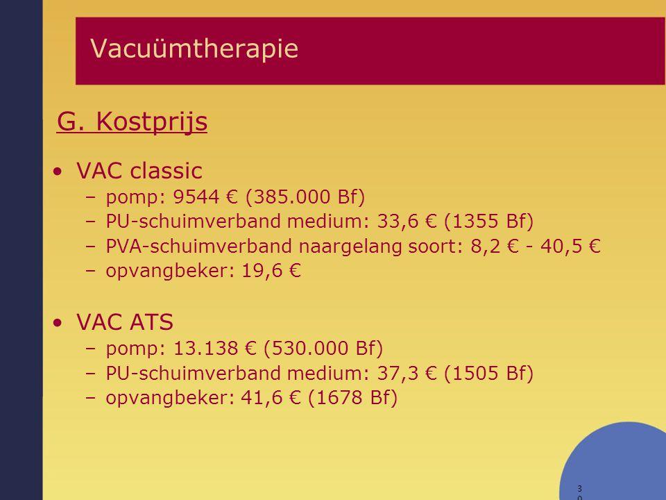 Vacuümtherapie G. Kostprijs VAC classic VAC ATS