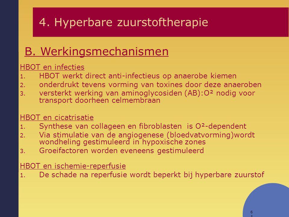 4. Hyperbare zuurstoftherapie