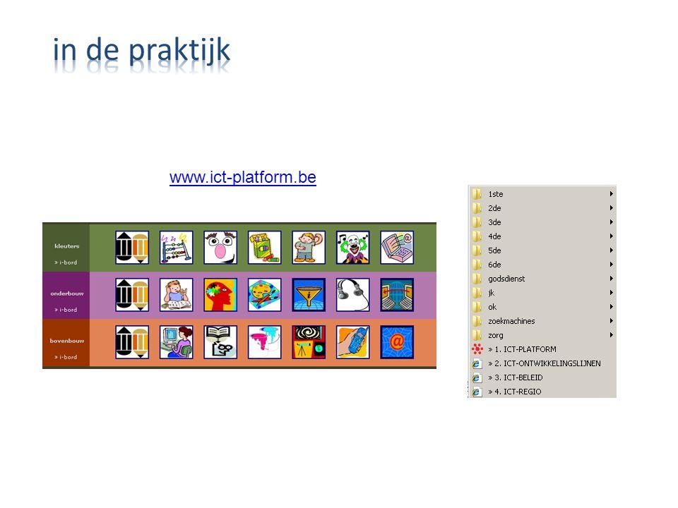 in de praktijk www.ict-platform.be