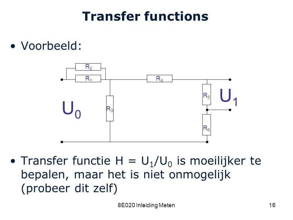 U1 U0 Transfer functions Voorbeeld: