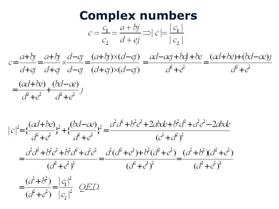 8C120 College 15a Complex numbers Technische Universiteit Eindhoven