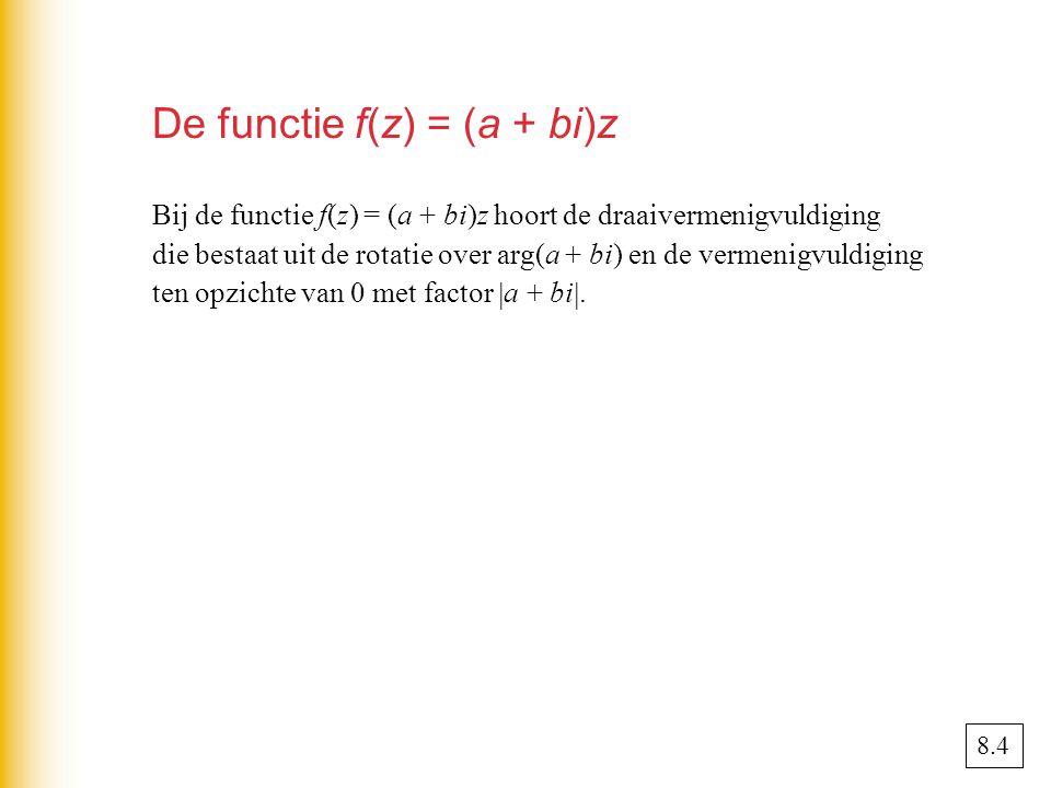 De functie f(z) = (a + bi)z