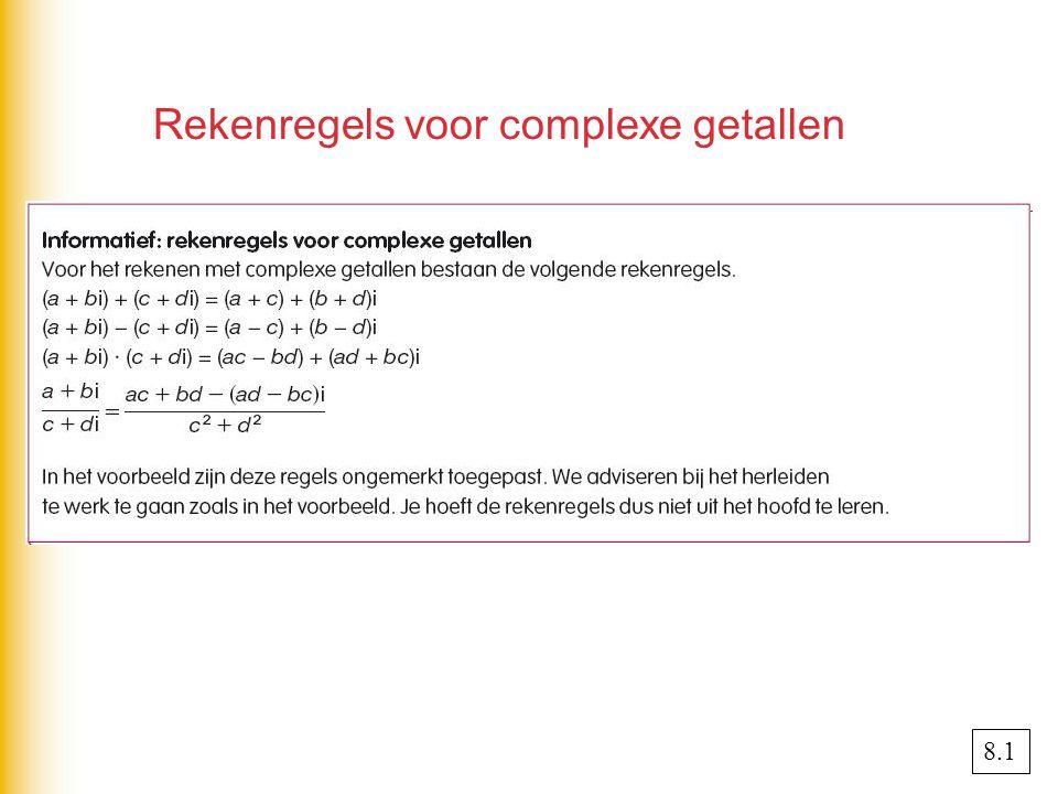 Rekenregels voor complexe getallen