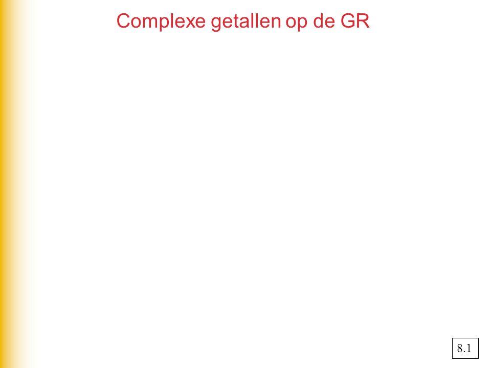 Complexe getallen op de GR