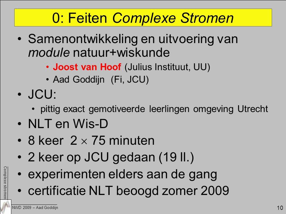 0: Feiten Complexe Stromen