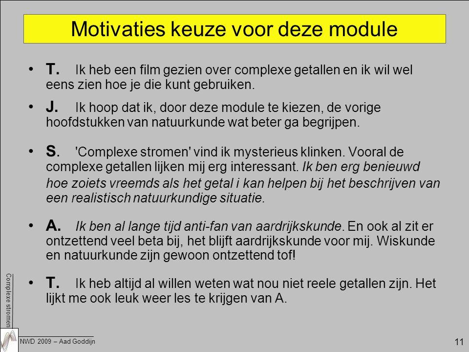 Motivaties keuze voor deze module