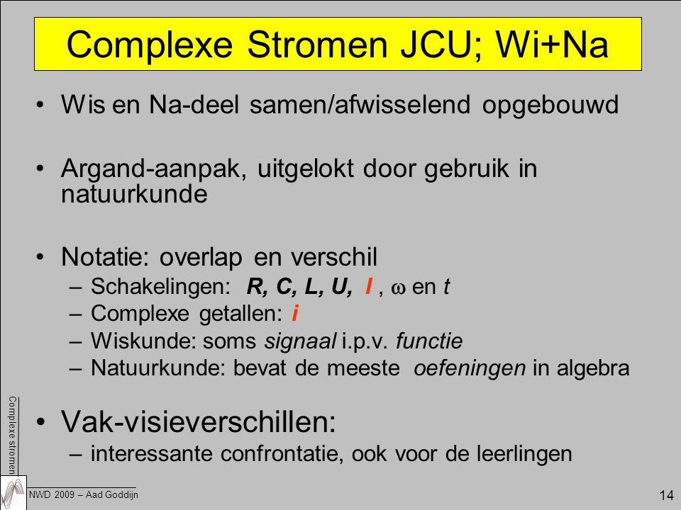 Complexe Stromen JCU; Wi+Na