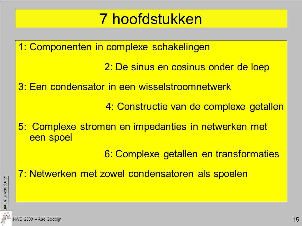 7 hoofdstukken 1: Componenten in complexe schakelingen