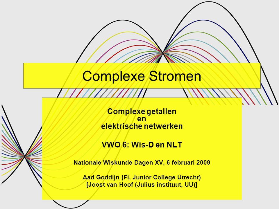 Complexe Stromen Complexe getallen en elektrische netwerken