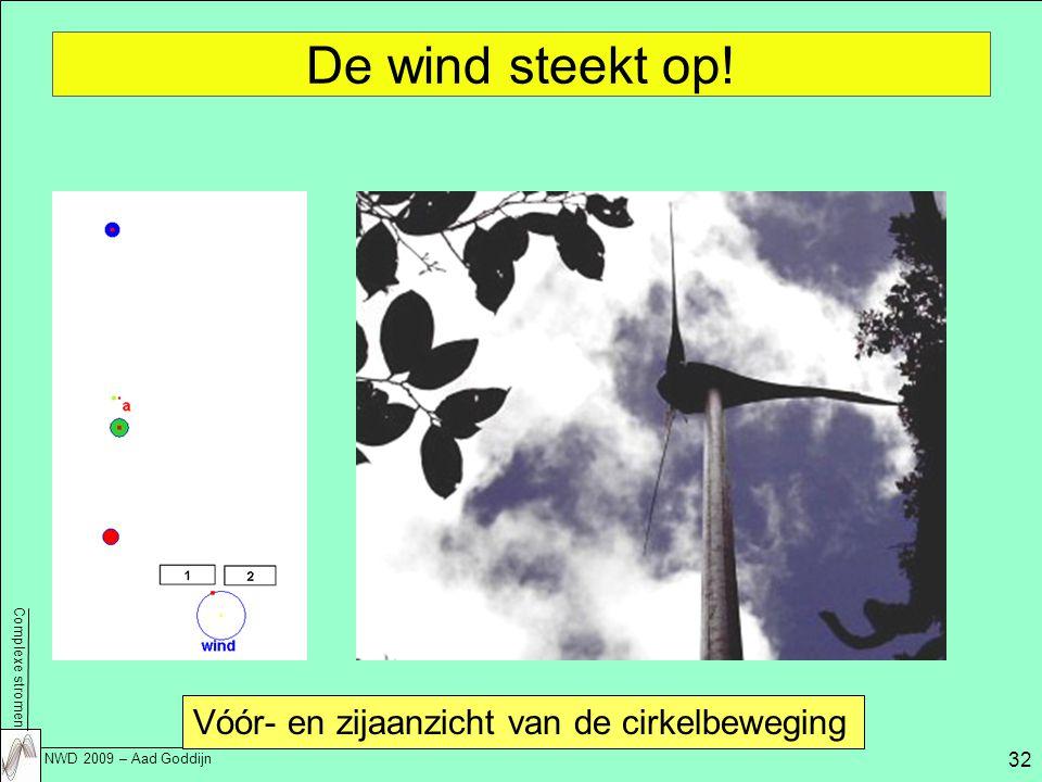 De wind steekt op! Vóór- en zijaanzicht van de cirkelbeweging
