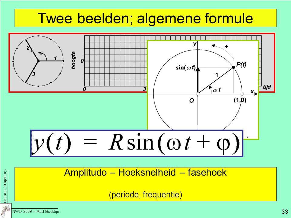 Twee beelden; algemene formule