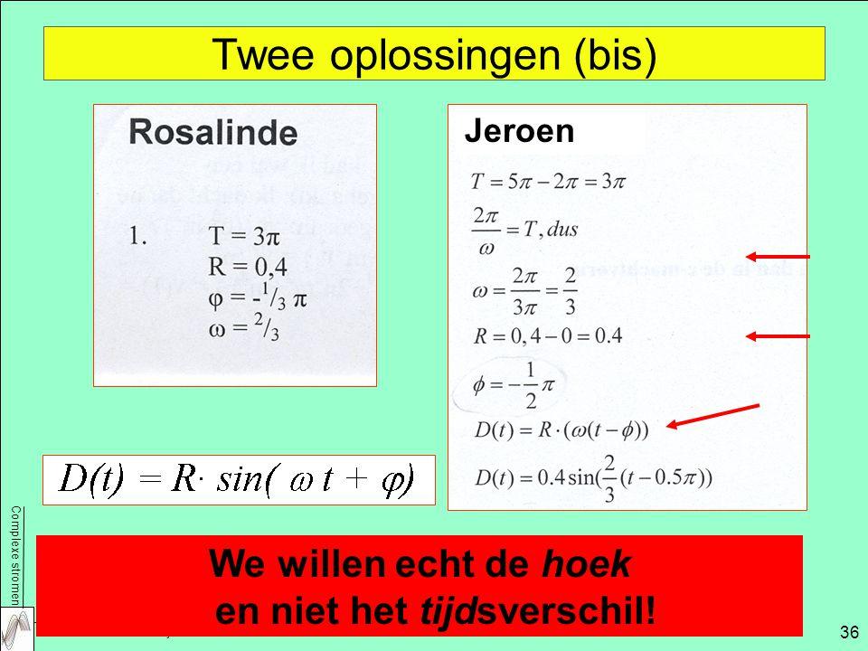 Twee oplossingen (bis)