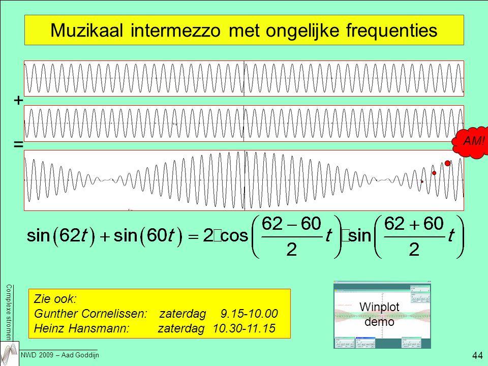 Muzikaal intermezzo met ongelijke frequenties