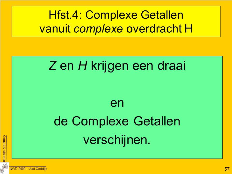 Hfst.4: Complexe Getallen vanuit complexe overdracht H