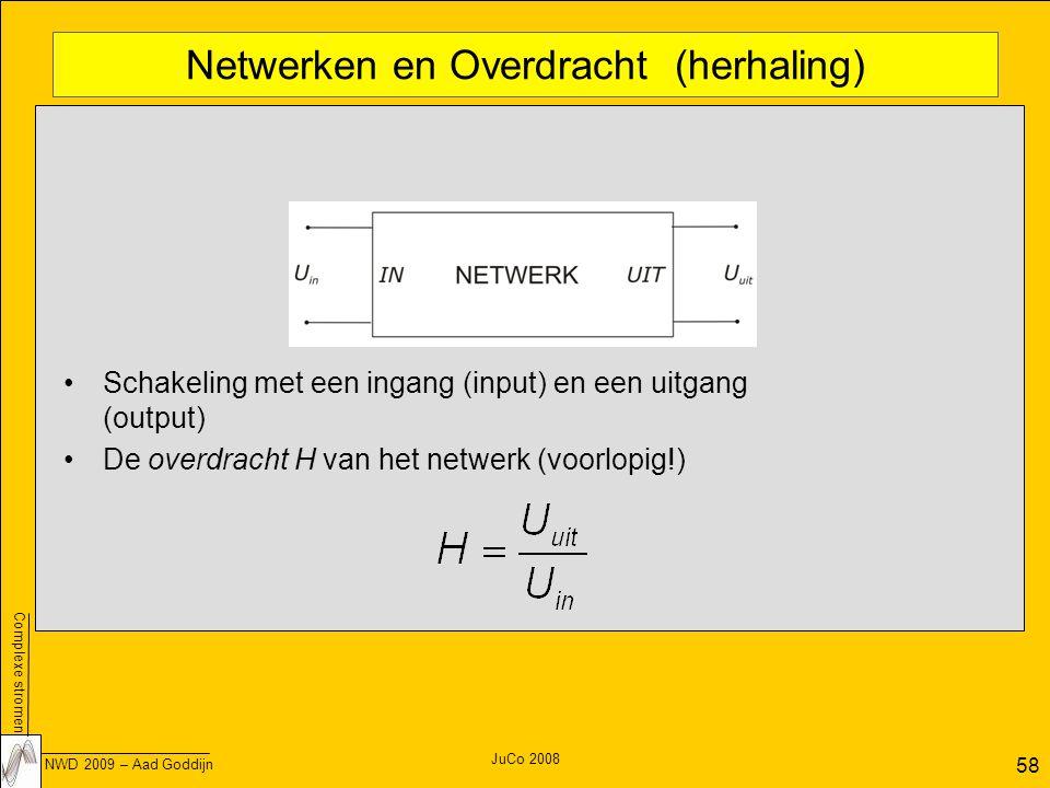 Netwerken en Overdracht (herhaling)
