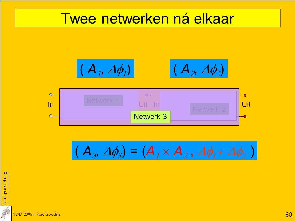 Twee netwerken ná elkaar