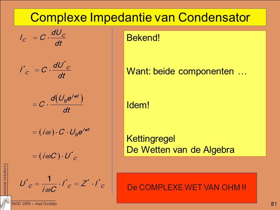 Complexe Impedantie van Condensator