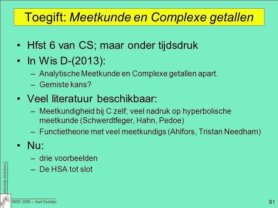 Toegift: Meetkunde en Complexe getallen