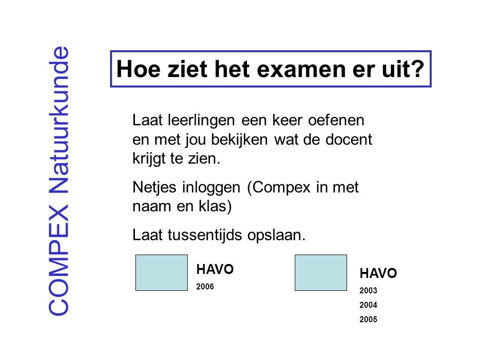 COMPEX Natuurkunde Hoe ziet het examen er uit