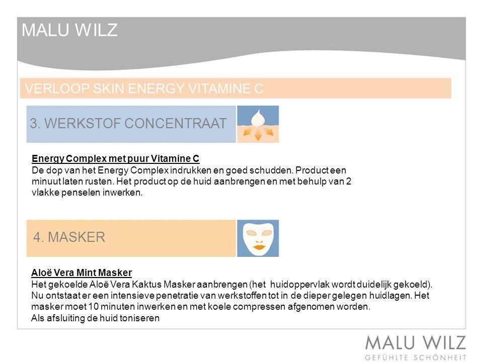 MALU WILZ 3. WERKSTOF CONCENTRAAT 4. MASKER