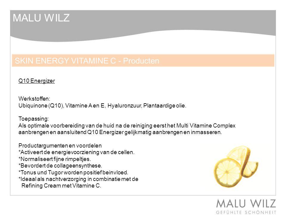 MALU WILZ Q10 Energizer Werkstoffen: