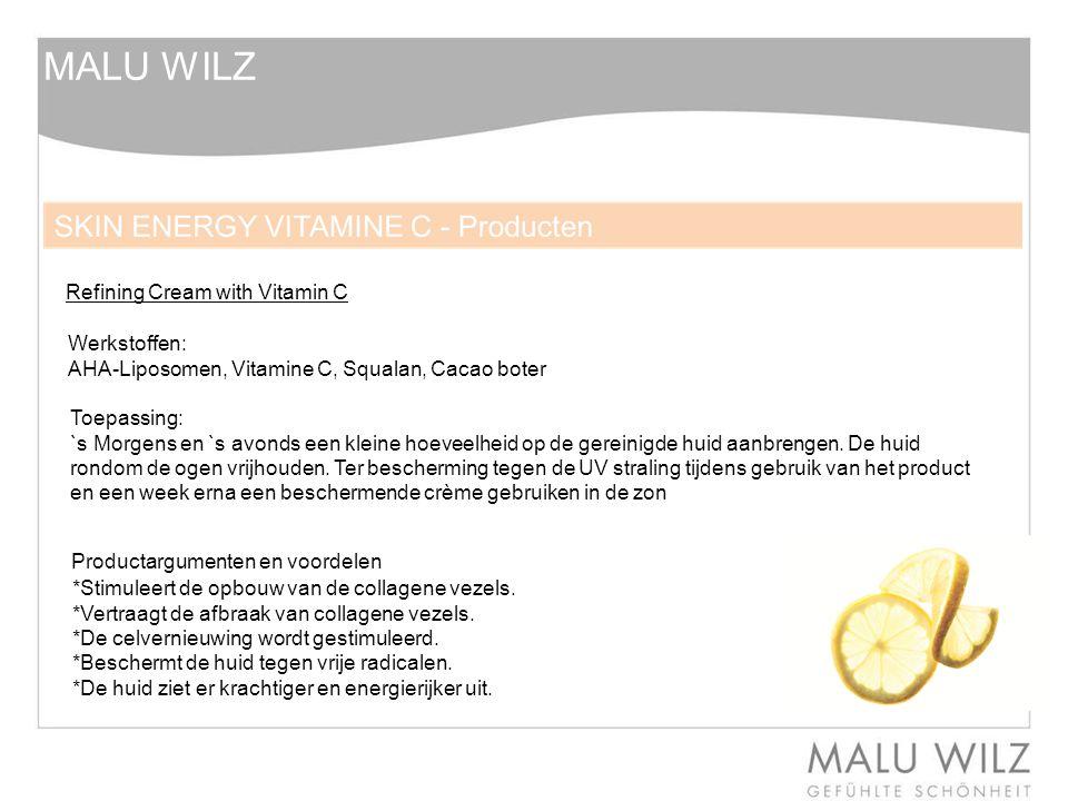 MALU WILZ Refining Cream with Vitamin C Werkstoffen: