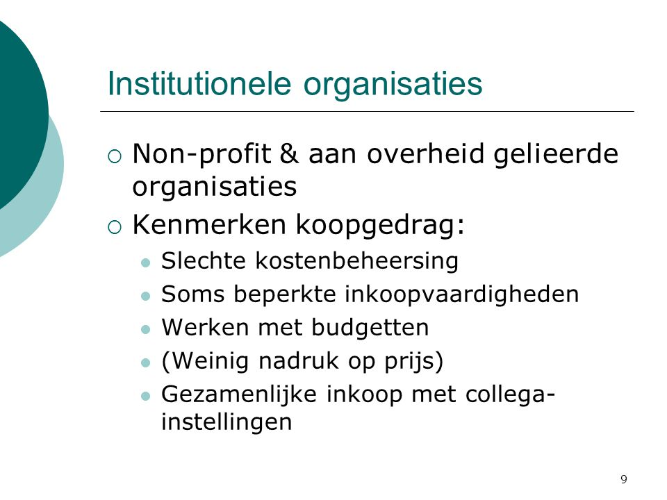 Institutionele organisaties