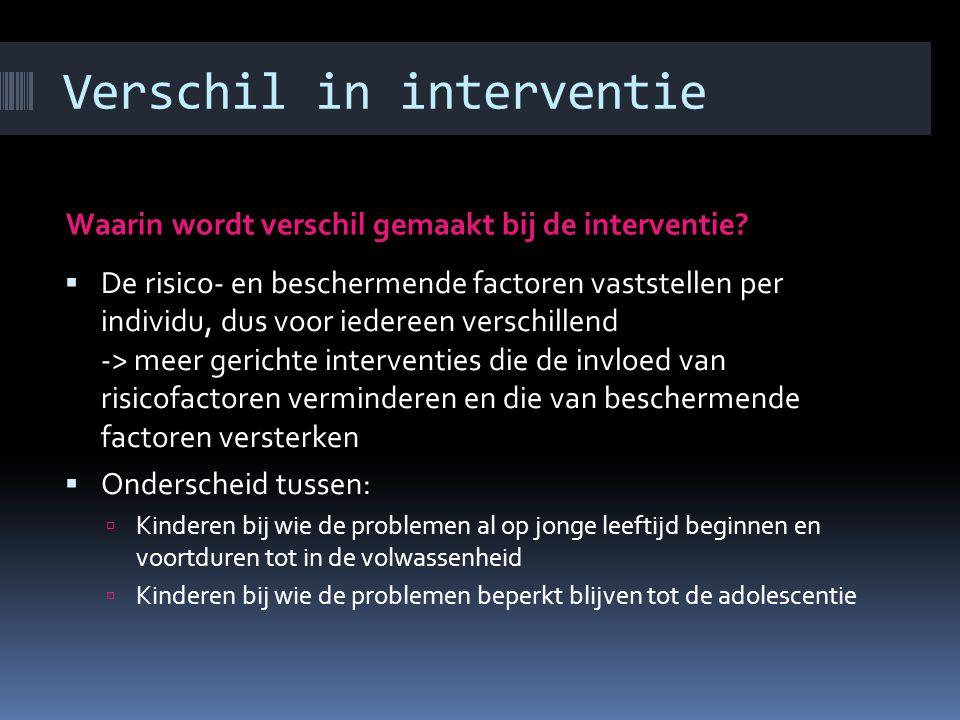 Verschil in interventie