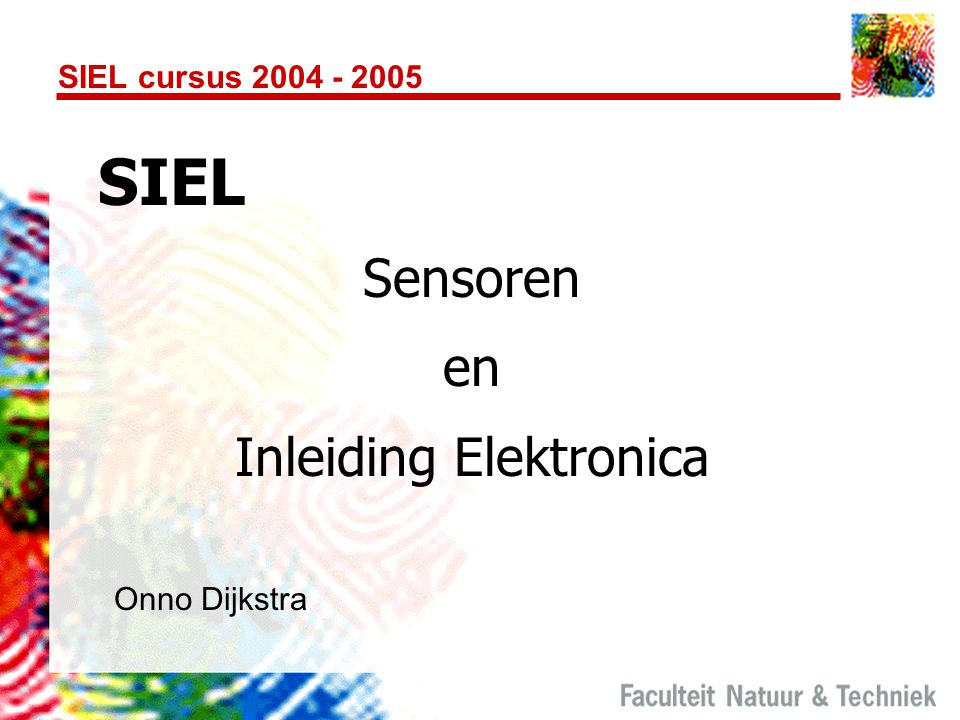 Inleiding Elektronica