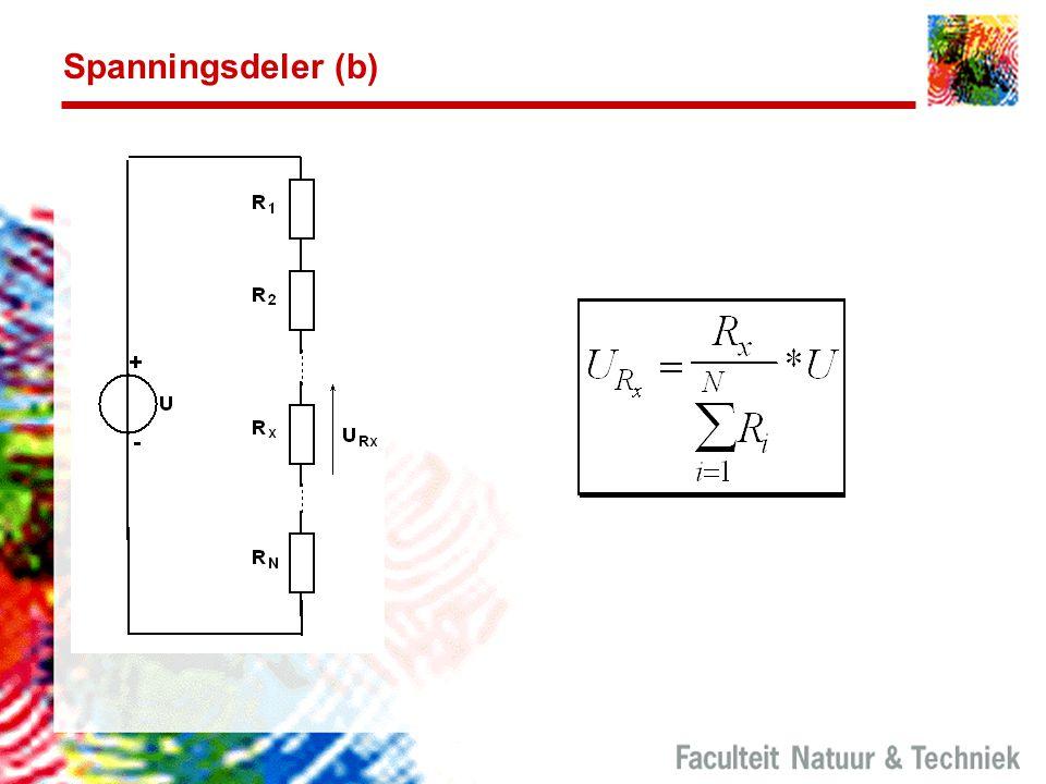 Spanningsdeler (b) Deze berekening komt veel voor.