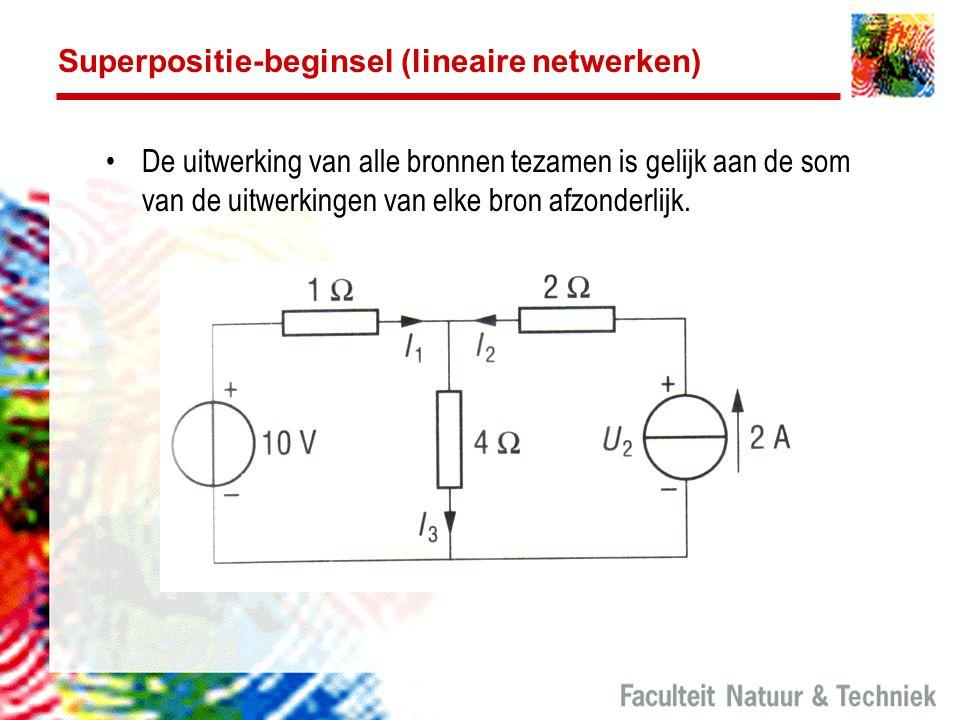 Superpositie-beginsel (lineaire netwerken)