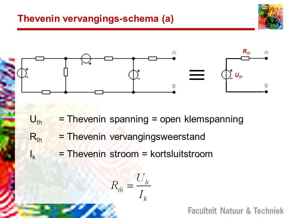 Thevenin vervangings-schema (a)