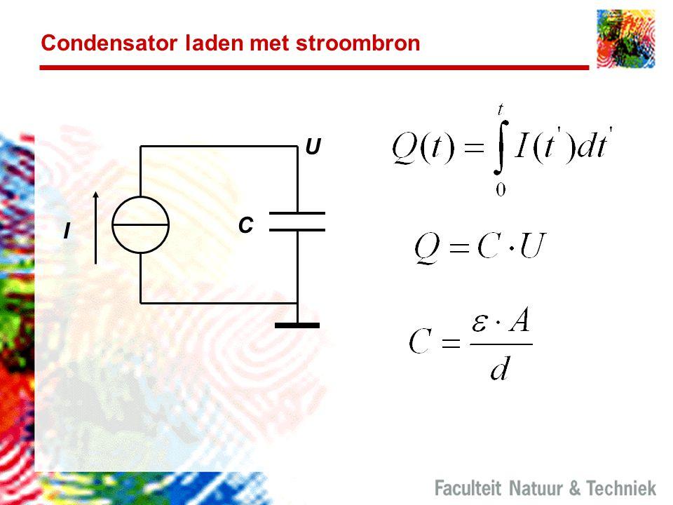Condensator laden met stroombron