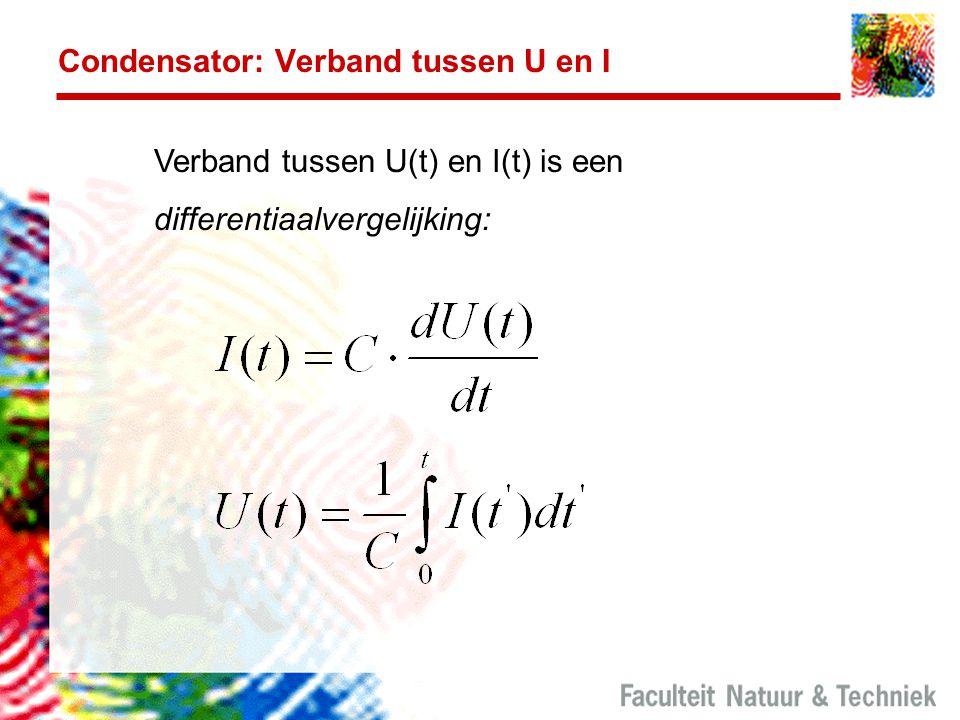 Condensator: Verband tussen U en I