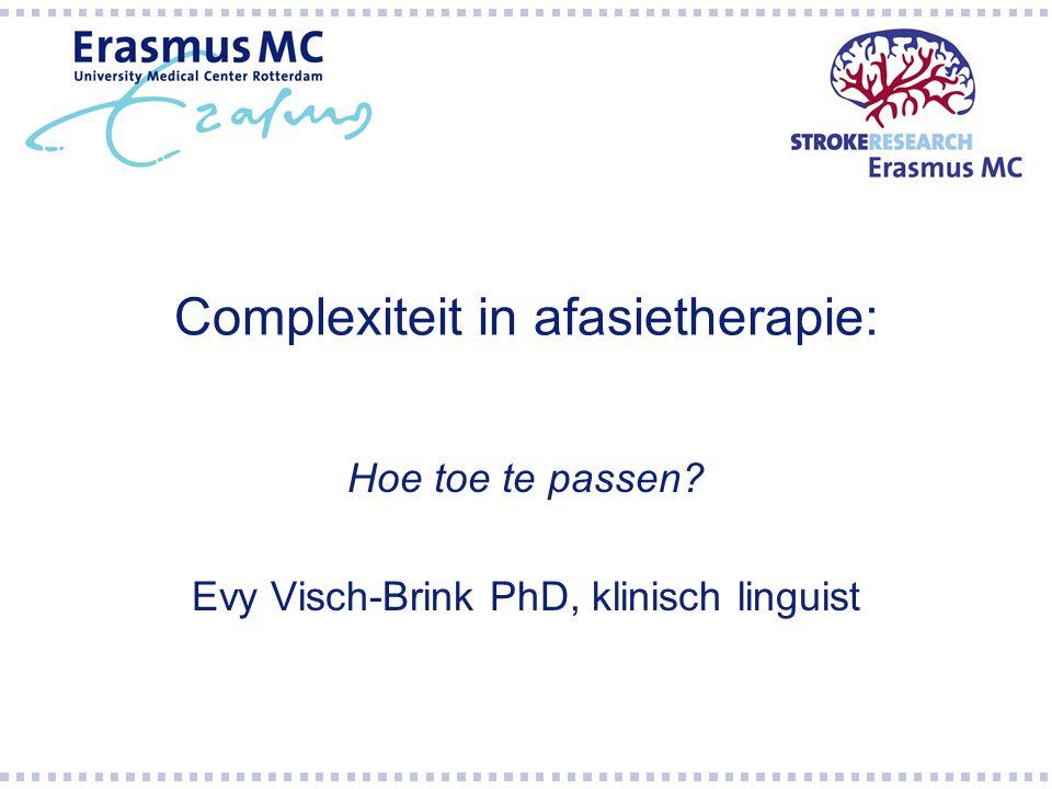 Complexiteit in afasietherapie: