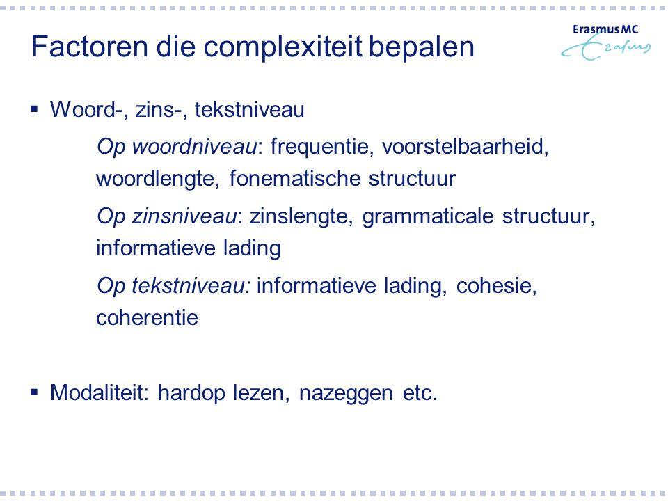 Factoren die complexiteit bepalen