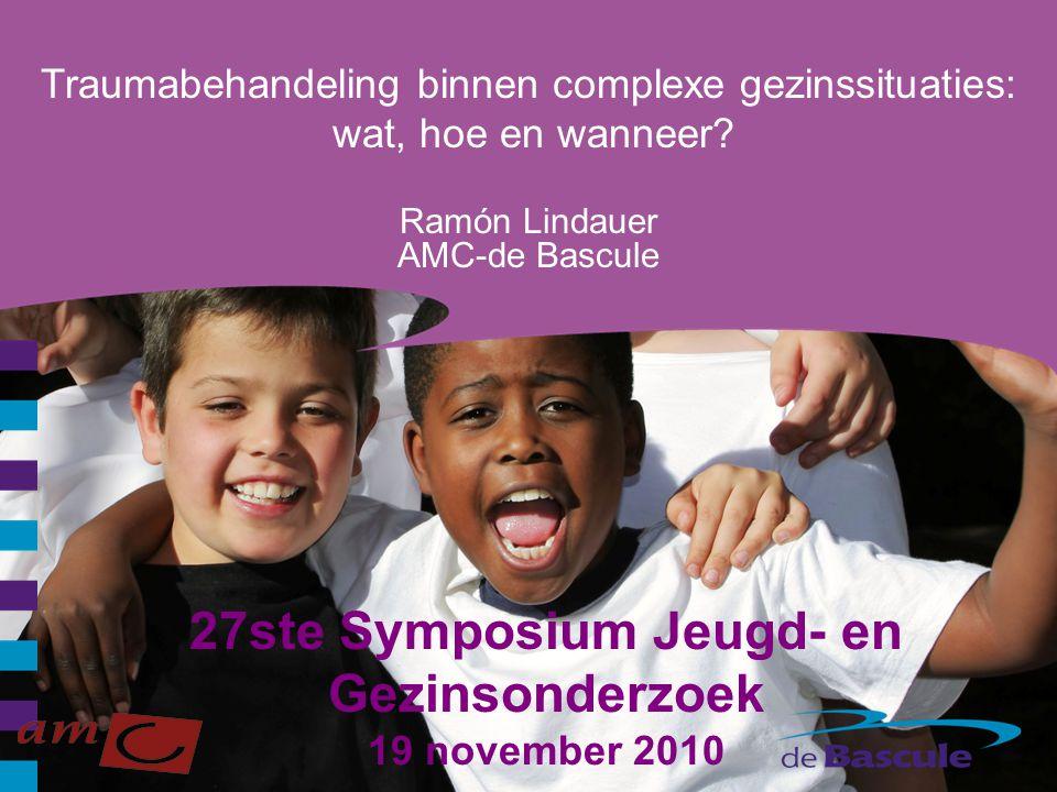 27ste Symposium Jeugd- en Gezinsonderzoek 19 november 2010