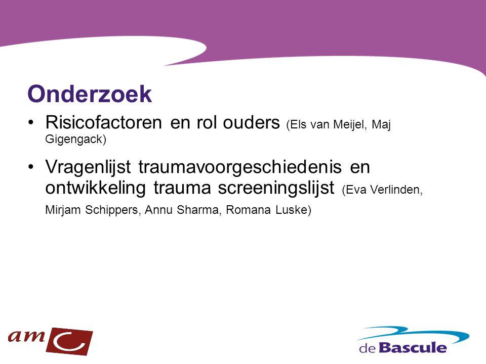Onderzoek Risicofactoren en rol ouders (Els van Meijel, Maj Gigengack)