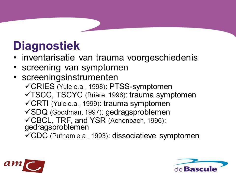 Diagnostiek inventarisatie van trauma voorgeschiedenis