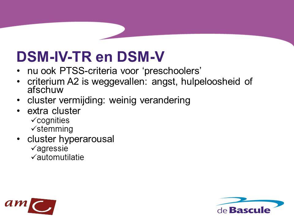 DSM-IV-TR en DSM-V nu ook PTSS-criteria voor 'preschoolers'